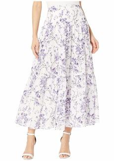 Ralph Lauren Tiered Cotton Voile Peasant Skirt