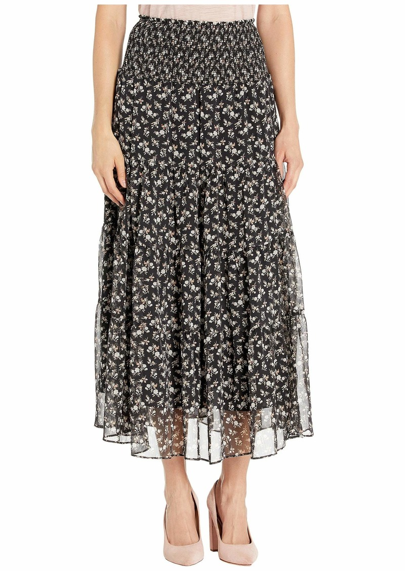 Ralph Lauren Tiered Georgette Peasant Skirt