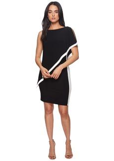 Ralph Lauren Timna Two-Tone Matte Jersey Dress