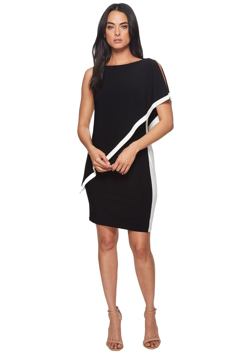 Ralph Lauren Timna Two-Tone Matte Jersey Dress