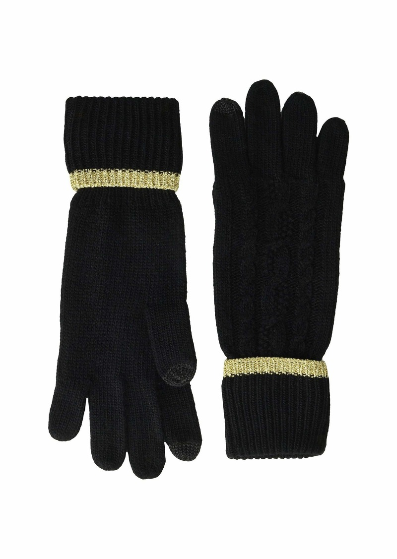Ralph Lauren Tipped Cable Touch Gloves