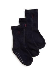 Ralph Lauren Toddler Boy's Three-Pair Sport Crew Socks