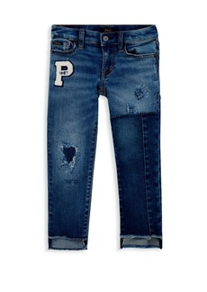 Ralph Lauren Little Girl's & Girl's Novelty Distress Jeans