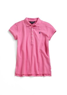 Ralph Lauren Little Girl's Classic Mesh Knit Polo Shirt