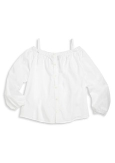 Ralph Lauren Toddler's, Little Girl's & Girl's Cold-Shoulder Top