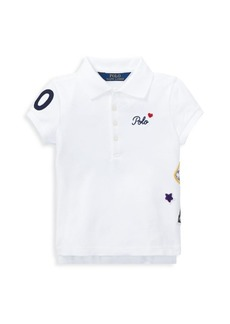 Ralph Lauren Toddlers, Little Girl's, & Girl's Stretch-Cotton Mesh Polo