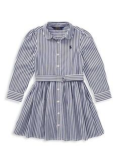 Ralph Lauren Toddler's, Little Girl's & Girl's Striped Cotton Shirtdress