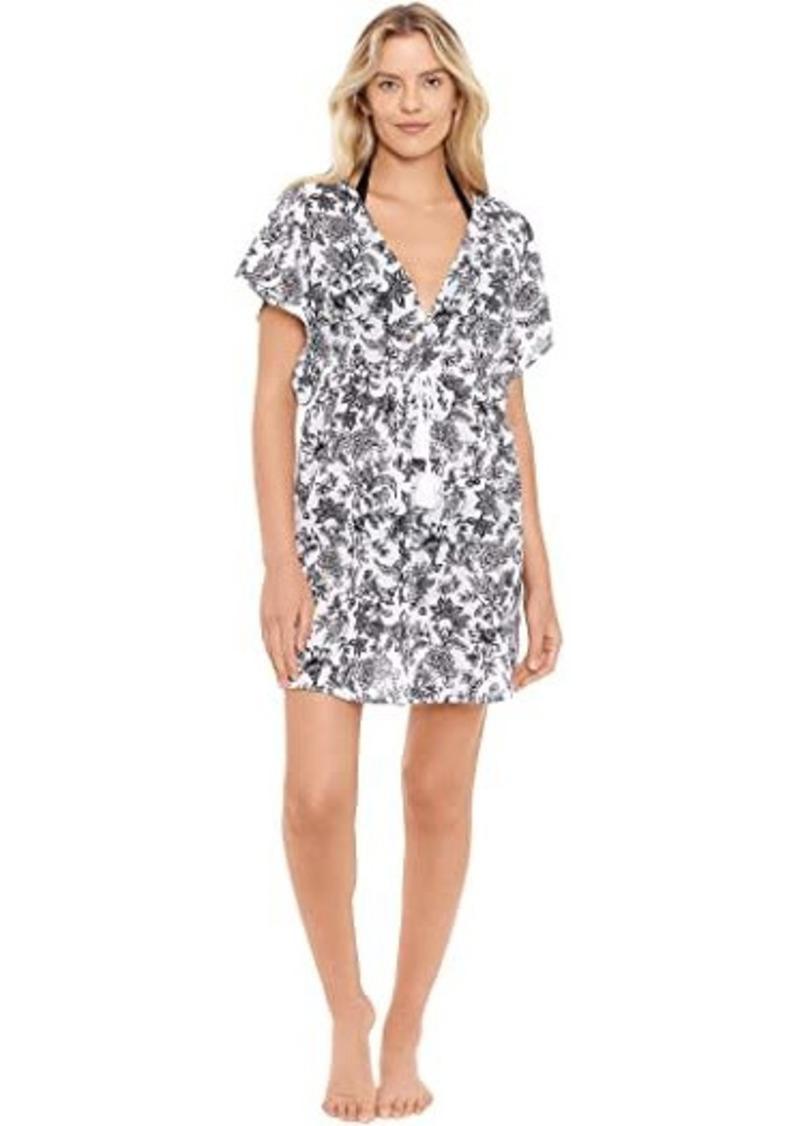 Ralph Lauren Toile Floral Flutter Sleeve Dress