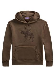 Ralph Lauren Tonal Embroidered Logo Hoodie Sweatshirt