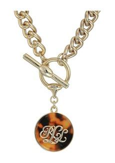 """Ralph Lauren Tortoise 18"""" Pendant Necklace"""