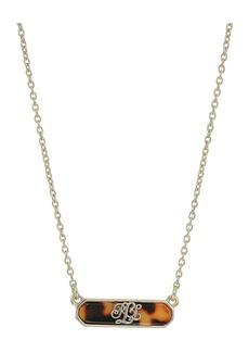 Ralph Lauren Tortoise Bar Pendant Necklace