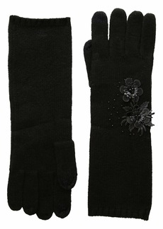 Ralph Lauren Touch Gloves with Floral Cluster