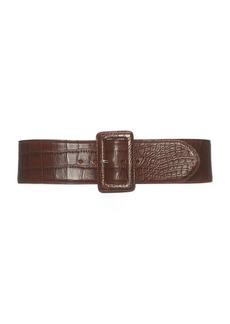 Ralph Lauren Trench-Buckle Alligator Belt