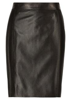 Tristan Lambskin-Silk Skirt