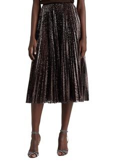 Ralph Lauren Trivelas Pleated Sequin Skirt