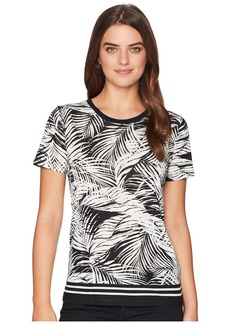 Ralph Lauren Tropical-Print Linen-Blend Top