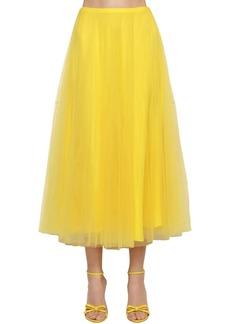 Ralph Lauren Tulle Multi Layered Midi Skirt