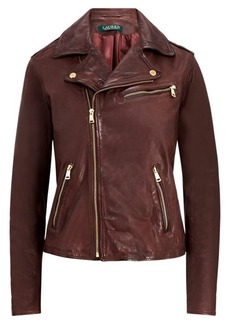 Ralph Lauren Tumbled Leather Jacket