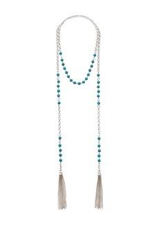 "Ralph Lauren Turquoise 54"" Tassel Necklace"