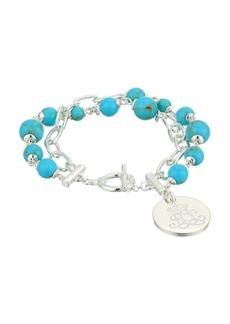 "Ralph Lauren Turquoise 7.75"" Toggle Bracelet"