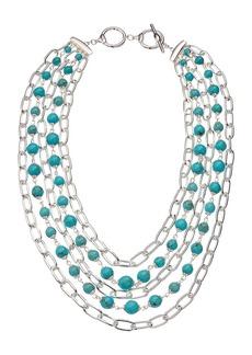 "Ralph Lauren Turquoise Multi Row Necklace 18"""