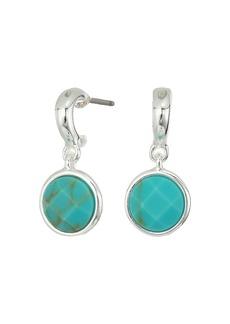 Ralph Lauren Turquoise Stone Huggie Earrings
