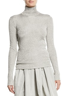 Ralph Lauren Turtleneck Long-Sleeve Metallic-Knit Sweater
