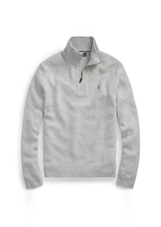 Ralph Lauren Tussah Silk Half-Zip Sweater
