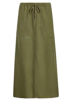 Ralph Lauren Twill Drawstring Maxiskirt