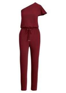 Ralph Lauren Twill One-Shoulder Jumpsuit