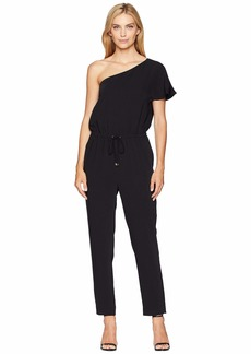 Ralph Lauren Twill One-Shoulder Jumpsuit