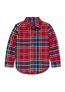 Ralph Lauren Twill Plaid Button-Down Shirt
