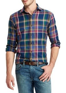 Ralph Lauren Twill Plaid Cotton Casual Button-Down Shirt