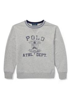 Ralph Lauren Twill Terry Graphic Sweatshirt