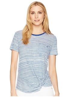 Ralph Lauren Twist Front Linen Blend T-Shirt