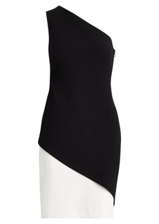 Ralph Lauren Two-Tone Crepe Dress