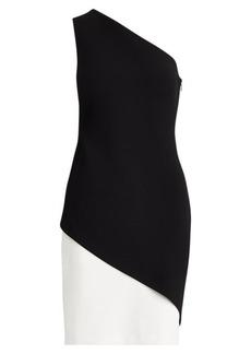 Ralph Lauren Two-Tone Crepe Dress