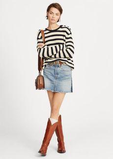 Ralph Lauren Two-Tone Denim Skirt