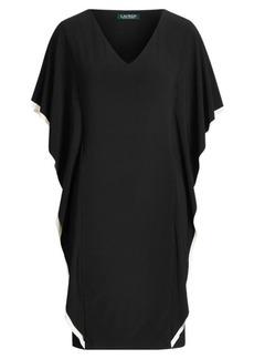 Ralph Lauren Two-Tone Ruffled Shift Dress