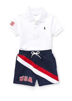 Ralph Lauren USA Short-Sleeve Polo w/ Matching Shorts