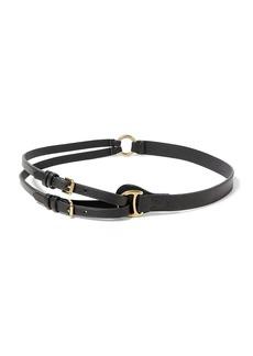 Ralph Lauren Vachetta Tri-Strap Belt