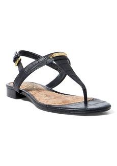 Ralph Lauren Valla Croc-Embossed Sandal
