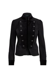 Ralph Lauren Velvet-Denim Officer's Jacket