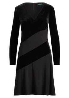 Ralph Lauren Velvet Fit-and-Flare Dress