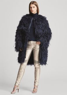 Ralph Lauren Veronica Ostrich-Feather Coat
