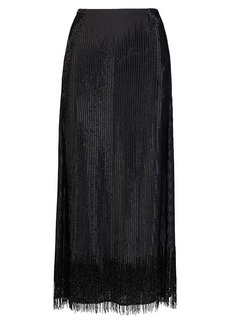 Veronique Beaded Silk Skirt