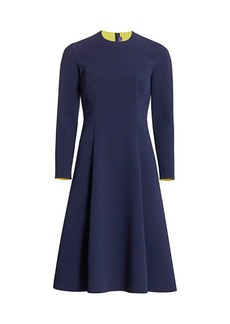 Ralph Lauren Viola Crepe A-Line Dress