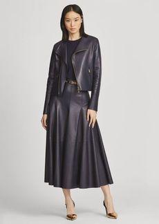 Ralph Lauren Virgil Lambskin Skirt