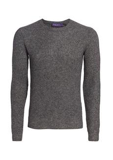 Ralph Lauren Waffle-Knit Cashmere & Silk Sweater