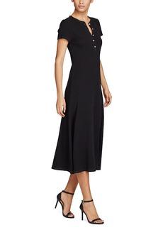 Ralph Lauren Waffle-Knit Cotton Midi Dress